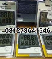 Jual Murah HTC-1 - Thermometer, Hygrometer & Clock - Temperature, Humidity Meter